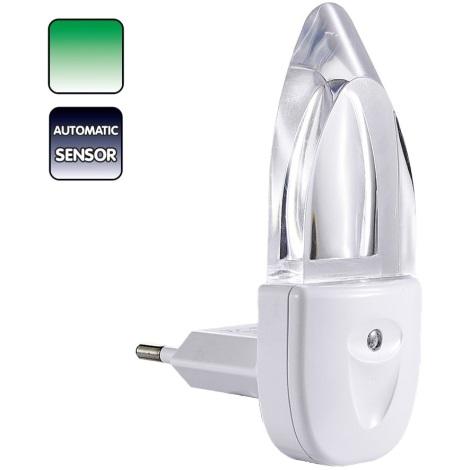 Candeeiro de tomada MINI-LUZ (luz verde)
