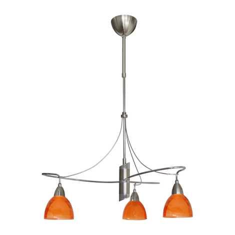 Candelabro CARRAT cromo mate/cromo/laranja