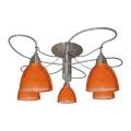 Candelabro integrado CARRAT cromo mate/cromo/laranja