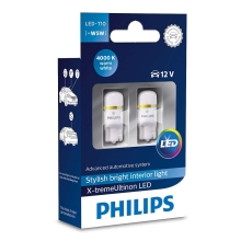 CONJUNTO 2x LED Lâmpada de carro Philips X-TREMEULTION 127994000KX2 T10 W2,1x9,5d/0,8W/12V