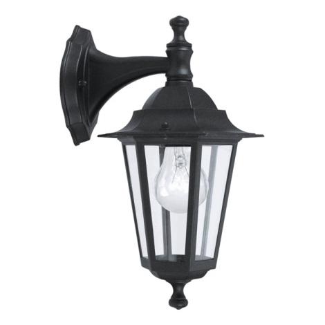 EGLO 22467 - Luz de parede de exterior LATERNA 4 1xE27/60W preto antigo