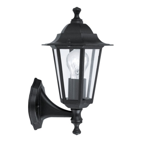 EGLO 22468 - Luz de parede de exterior LATERNA 4 1xE27/60W preto antigo
