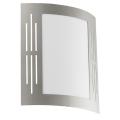 EGLO 82309 - Luz de parede de exterior CITY 1xE27/15W/230V IP44