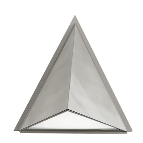 EGLO 83758 - Luz de parede de exterior TRIGO 1xE27/60W prata / branco IP44