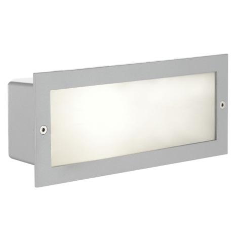 EGLO 88008 - Luz de parede exterior ZIMBA 1xE27/60W prata/branco IP44