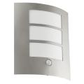 EGLO 88142 - Aplique de parede externo com sensor CITY 1xE27/15W/230V IP44