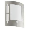 EGLO 88144 - Aplique de parede externo com sensor CITY 1xE27/15W/230V IP44
