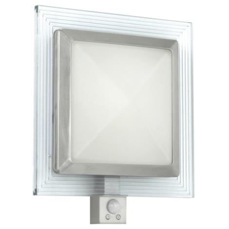 EGLO 88163 - Aplique de parede externo com sensor PALI 1xE27/15W + 1xLED/1,28W IP44