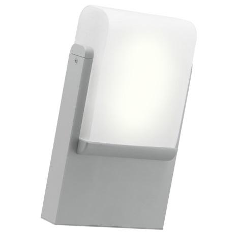 EGLO 89576 - Luz de parede de exterior CARACAS 1xE27/22W/230V prata IP44