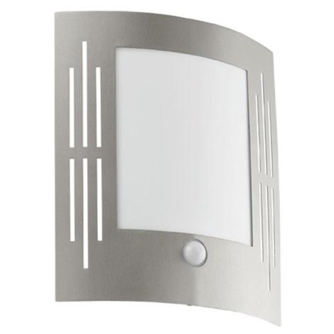 EGLO - Aplique de parede externo com sensor 1xE27/15W/230V IP44