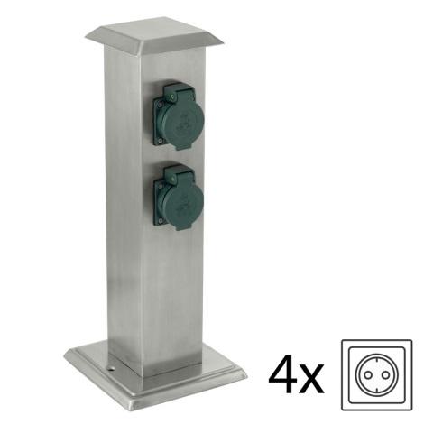 EGLO - Coluna exterior para tomadas 4 verde IP44