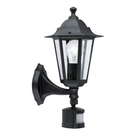 EGLO - Luz com sensor 4 1xE27/60W preto antigo