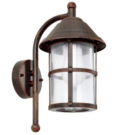 EGLO - Luz de parede de exterior 1xE27/60W/230V