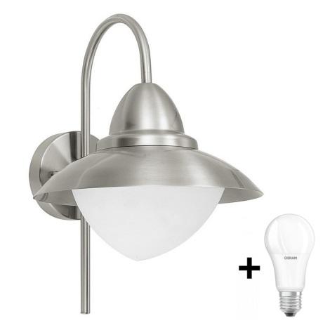 EGLO - Luz de parede LED de exterior 1xE27/8,5W - Lâmpada LED GRÁTIS IP44