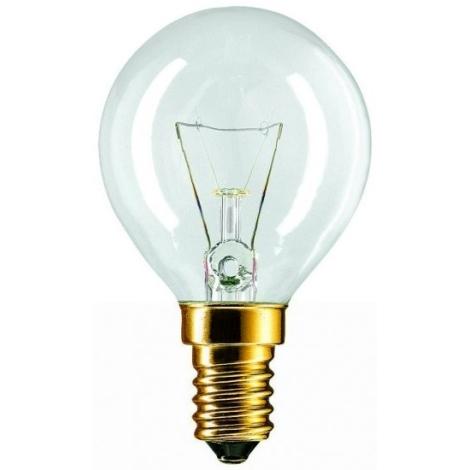 Lâmpada de iluminação E14/60W/230V transparente