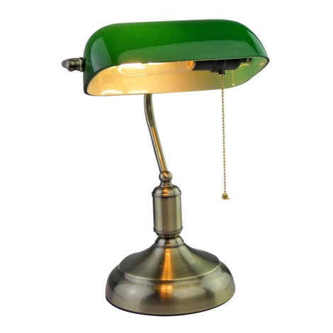 Lâmpada de mesa BANKER 1xE27/60W/230V