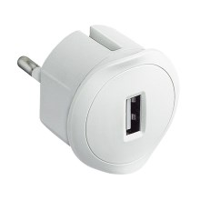 Legrand 50680 - Adaptador Plug-in USB 230V/1,5A branco