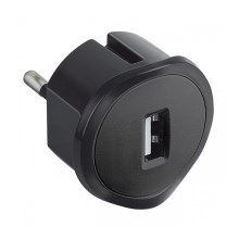 Legrand 50681 - Adaptador Plug-in USB 230V/1,5A preto