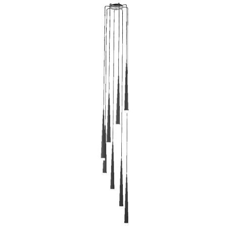 Luxera 48005 - Candelabro pendente EBONY 8xG9/33W/230V