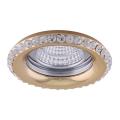 Luxera 71081 - Luz embutida CRYSTALS 1xGU10/50W/230V cristal