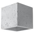 Luz de parede QUAD 1xG9/40W/230V betão