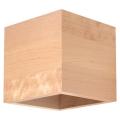 Luz de parede QUAD 1xG9/40W/230V madeira