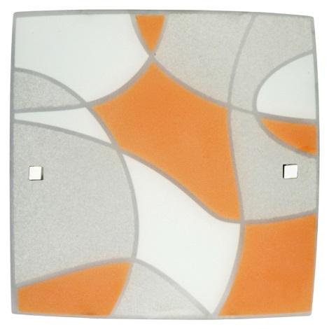 Luz de teto ASPIS 3xE27 / 60W laranja