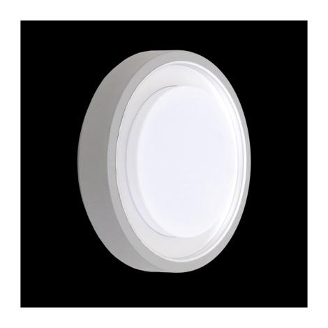 Luz de teto de exterior ORIGO 1xE27/60W prata IP54