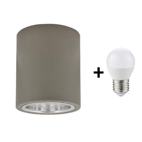 Luz de teto LED JUPITER 1xE27/6W/230V 120x98 mm