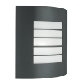 Massive 01726/01/93 - Luz de parede de exterior OSLO 1xE27/60W cinza escuro IP44