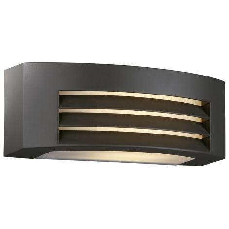 Massive 17105/93/10 - Luz de parede de exterior DURBAN 2xG23/9W antracite IP44