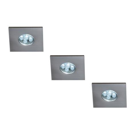 Massive 59028/17/10 - CONJUNTO 3xLED Luz embutida MONTICELLO 3xLED/0,36W/230V