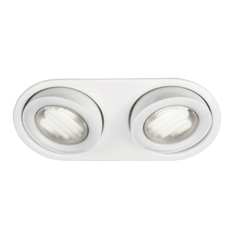 Massive 59602/31/10 - Luz encastrada de casa de banho MONO 2xGX53/9W/230V branco