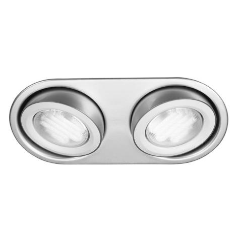 Massive 59602/48/10 - Luz encastrada de casa de banho MONO 2xGX53/9W/230V Alumínio