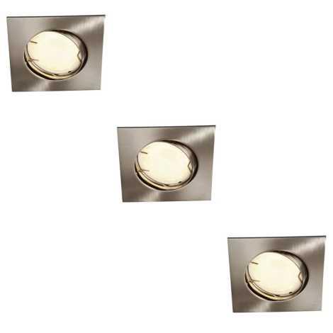 Massive 59733/17/10 - CONJUNTO 3x Luz encastrada de casa de banho ZARO 3xGU10/10W/230V