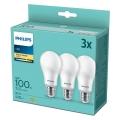 PACK 3x Lâmpadas LED Philips A67 E27/14W/230V 2,700K