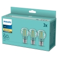 PACK 3x Lâmpadas LED VINTAGE Philips A60 E27/7W/230V 2,700K