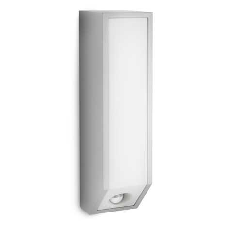 Philips 16933/87/16 - Luz de parede de exterior com sensor MYGARDEN FEATHER E27/23W IP44