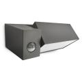 Philips 16943/93/16 - Luz de exterior com sensor MYGARDEN BORDER 1xE27/23W/230V IP44