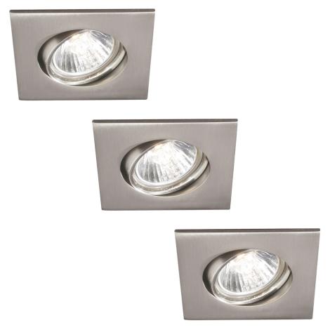 Philips 59473/17/16 - CONJUNTO 3xGU10/30W Luz encastrada de casa de banho MYLIVING CAPELLA 3xGU10/30W/230V