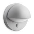 Philips - Aplique de parede externo com sensor E27/12W IP44