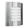 Philips Massive 01726/01/47 - Luz de parede de exterior OSLO 1xE27/60W inoxidável IP44
