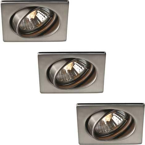 Philips Massive 59323/17/10 - CONJUNTO 3x Luz encastrada de casa de banho 3xGU10/50W/230V