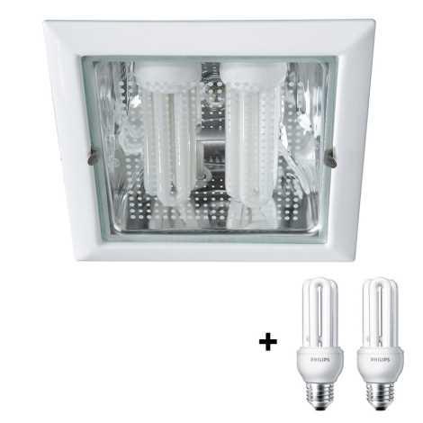 Philips Massive 59796/31/10 - Luz embutida VETA 2xE27/14W/230V branco