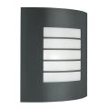 Philips Massive - Luz de parede de exterior 1xE27/60W cinza escuro IP44