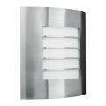 Philips Massive - Luz de parede de exterior 1xE27/60W inoxidável IP44
