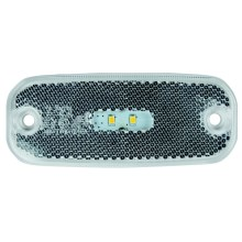 Refletor de luz LED SINGLE LED/0,2W/12-24V IP67 prata