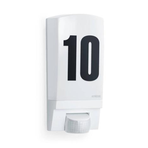 STEINEL 650513 - L1 Lâmpada com sensor de exterior branco IP44