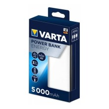 Varta 57975101111 - Power Bank ENERGY 5000mAh/2,4V branco