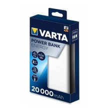 Varta 57978101111 - Power Bank ENERGY 20000mAh/2,4V branco